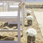 Beach wedding aisle decorations