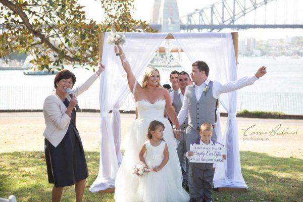 Botanic Gardens Wedding, Outdoor wedding aisles, sydney ceremony