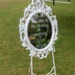 Mirror Welcome Easel