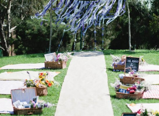 ceremony picnic setting