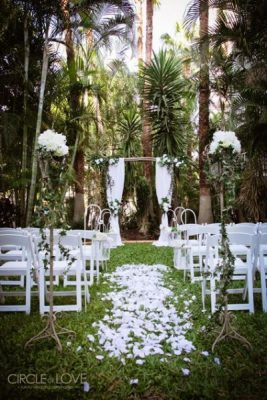 Enchanted Forest Wedding Twilight Ceremony