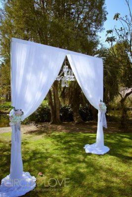 Footscray Park Wedding arch Melbourne, essendon wedding