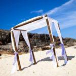 Wedding Bamboo Canopy - North Burleigh Beach Wedding