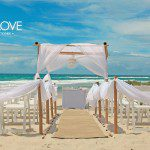 Salt beach wedding ceremony