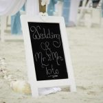 black board sign - gold coast wedding 2