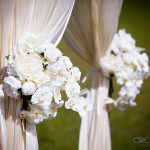 Ceremony decorating ideas, outdoor wedding aisles, flower decorations