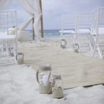 wedding aisle styling beach