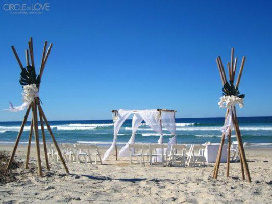 Broken Head beach wedding