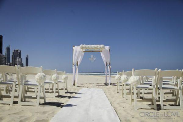 broadbeach wedding venue, ceremony beach