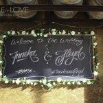 bridal table backdrop