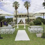 Kamesburgh gardens wedding ceremony